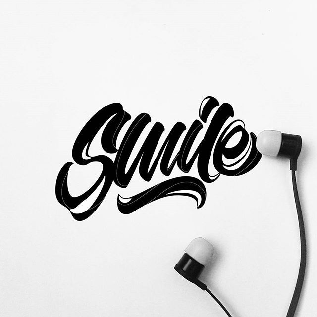 Smile more.  __________________________________________________    #art #artist #design #vsco #vscocam #vscogood #graphicdesign #handlettering #typography #typematters #50words #letteringco #thedailytype #typespire #typegang #handmadefont #goodtype #TYxCA #typetopia #quotes #quoteoftheday #smile #happiness #happy #logodesign #lettering #love #life