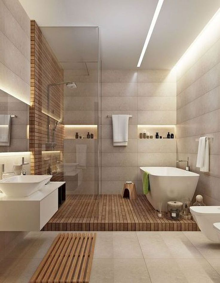 Cool 63 Relaxing Master Bathroom Bathtub Remodel Ideas. More at https://homedecorizz.com/2018/02/24/63-relaxing-master-bathroom-bathtub-remodel-ideas/