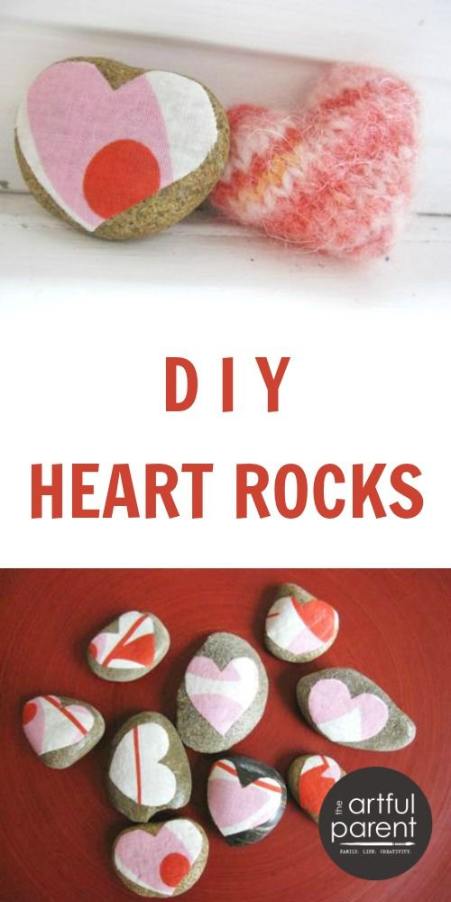 Heart Rocks An Easy Decoupage Project For Valentines