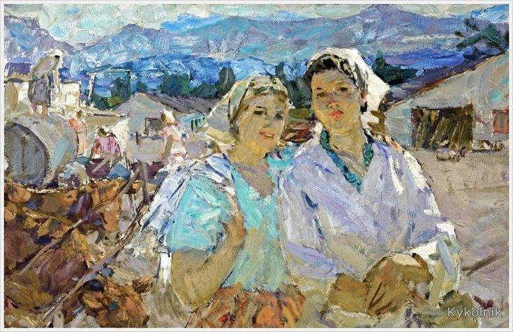 Бернадский Валентин Данилович (Россия, 1917-2011) «Подруги»