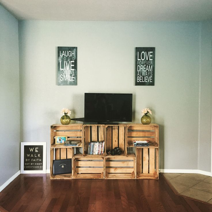 Easy $50 tv stand #crates #diy …