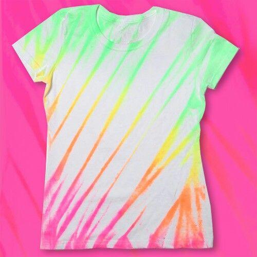 neon spray paint tie dye shirt neon glow in the dark party. Black Bedroom Furniture Sets. Home Design Ideas