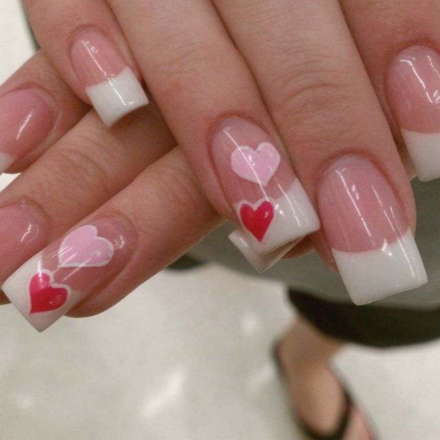 simple valentine nail art