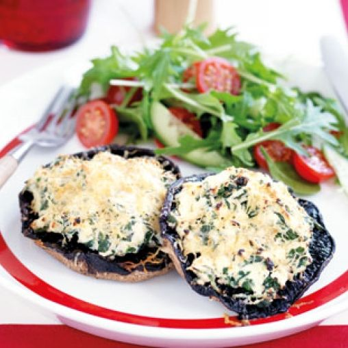 Spinach and ricotta baked mushrooms | Healthy Food Guide