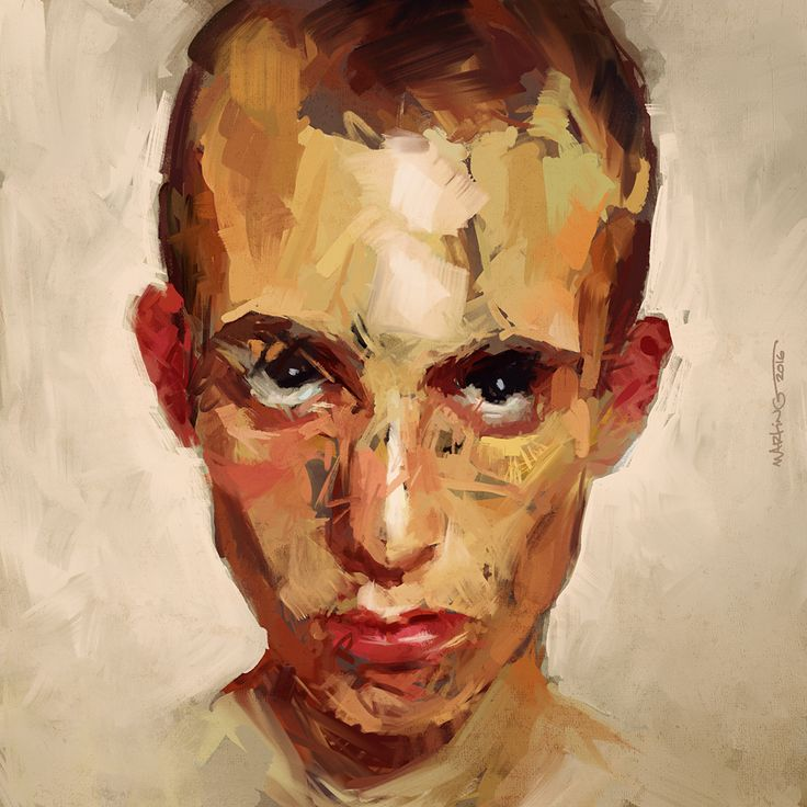 Digital Paint Studies on Behance