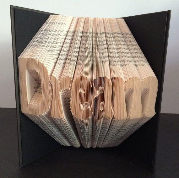 Book Folding Pattern  Dream  Free by BookFoldingAustralia on Etsy