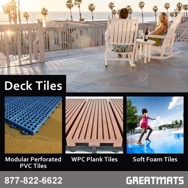 Deck Tiles Including Soft Pvc