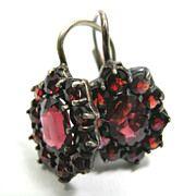 Bohemian Rose Cut Garnet Earrings