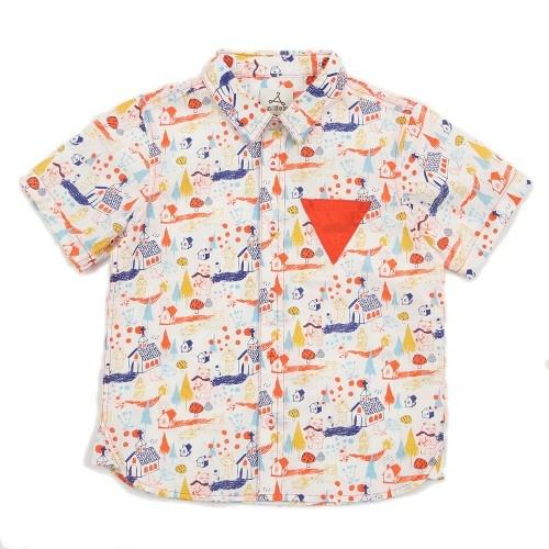 Boy White Short Sleeves Print Shirt - Let's Go To Church