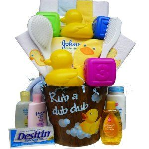 New Baby Gift Ideas. How About A Baby Gift Basket?