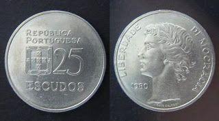 Ainda sou do tempo: moeda 25 escudos