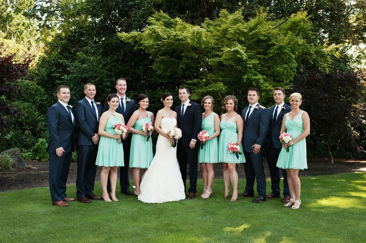 Navy And Coral Wedding Colors: Coral, Mint & Navy Blue Real Wedding