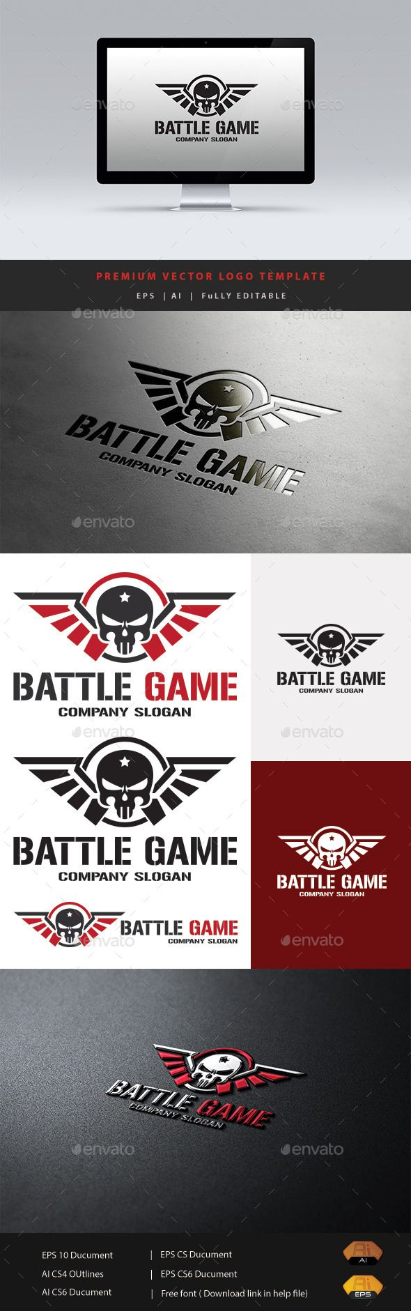 Battle Game — Vector EPS #team #video game • Available here → https://graphicriver.net/item/battle-game/12274624?ref=pxcr
