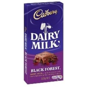 Cadbury Dairy Milk Black Forest 200g Block