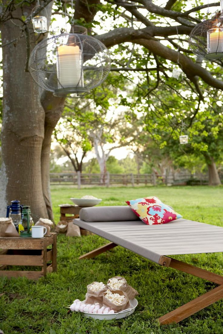 The Tilba daybed. Perfect for summer lounging in the sun or under the stars on a warm summer night. ($799)  #outdoorfurniture #outdoorfurnitureideas #outdoordesign #outdoordesignideas #outdoorstyling #outdoorcinema #outdoorentertainingideas