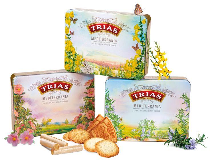Packaging GALETES TRIAS  Disseny de diferents projectes de Packaging per la Marca Galetes Trias. Llaunes, caixes i faixes petit format, així com diferents dissenys adaptats als mercats de cada producte.