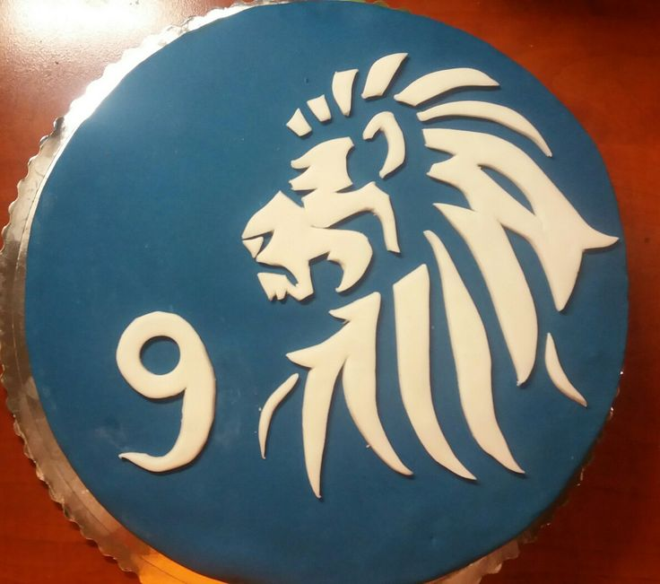 Cake with lion for my son