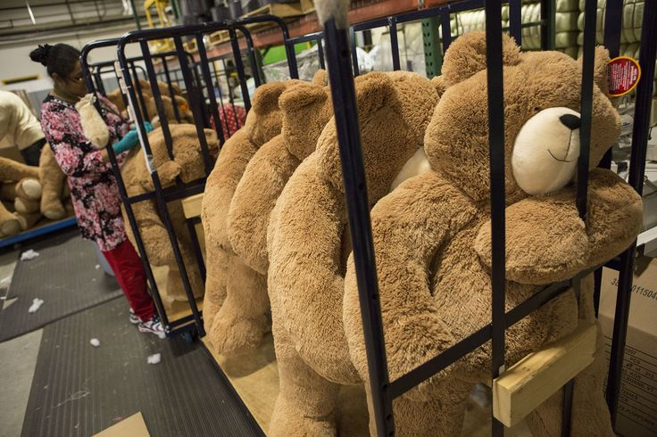 Vermont Teddy Bear in Shelburne was started in 1981 and hand-makes more than 150,000 bears annually for its gift delivery service. No two are exactly alike.Photographer: Shiho Fukada/Bloomberg