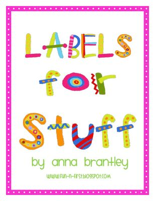 Label Love - Labels for Stuff from Crazy for First Grade