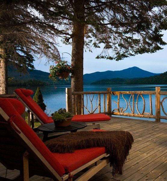 Relais & Chateaux - On the shores of spectacular Lake Placid, its mirror-like waters reflecting the majestic Adirondack Mountains, sits Lake Placid Lodge. Lake Placid Lodge, USA #relaischateaux #relax #landscape