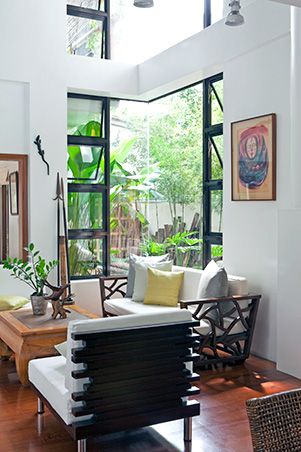 Recycled wood completes a Modern Tropical House in Quezon City Real Living Philippines