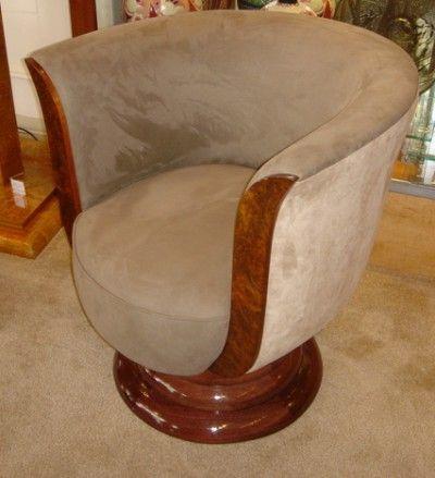 art deco swivel chair