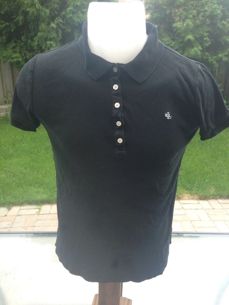 New to MajorDivision on Etsy: Vintage Black Lauren by Ralp Lauren Short Sleeve Polo (15.00 CAD)