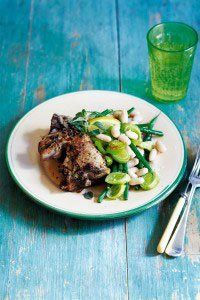 We call this our 'Flash in the pan lemony lamb' as it's ready in (next to) no time!