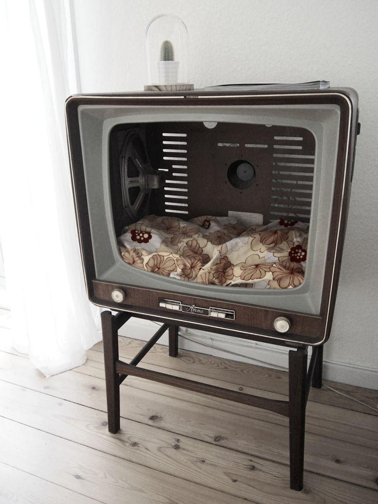 Jeg kan desværre ikke tage credit for denne DIY, men jeg vil nu alligevel gerne vise den frem. Jeg vandt heldigvis en konkurrence om netop denne hule til katte. Det er fra fjernsyn til kattehule.