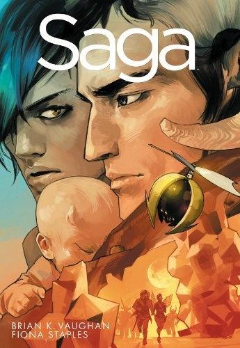 Saga Volume 1 TP by Brian K Vaughan, http://www.amazon.com/dp/1607066017/ref=cm_sw_r_pi_dp_7pTrqb0ZPX47J