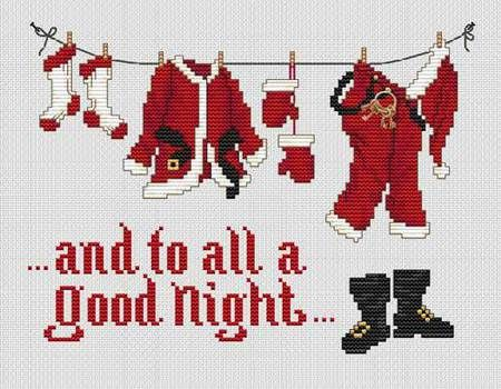 Good Night (with charm) - Cross Stitch Pattern
