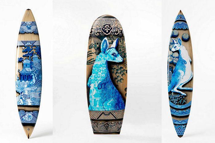 Расписные доски для серфинга. Художественная пирография Питера Уокера (Peter Walker) (6 фото)