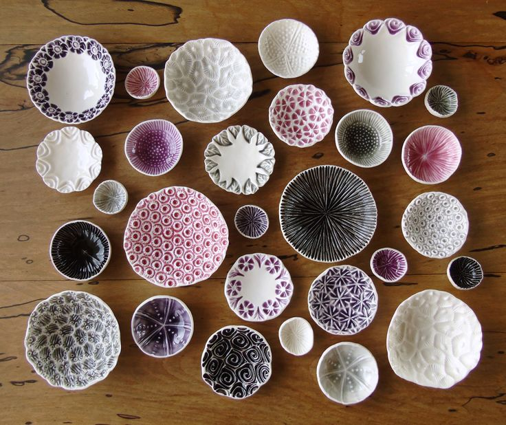 Pretty with pink :) ~ Delicate porcelain dishes from Mairi Stone