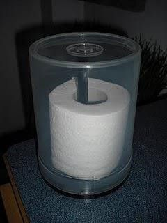 Don't you hate using damp toilet paper? Keep it in an empty CD/DVD covered spindle for your camping trips (maybe even keep in car for emergencies).