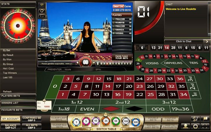 casino live online european roulette online