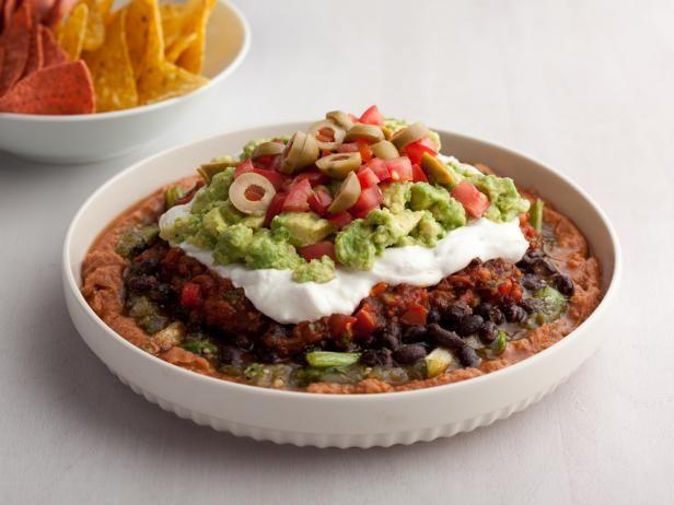 Lucky 7 Layer Dip #BigGame: Five, Food Dinner, Dips Recipe, Parties, Beans Dips, May, Layered Dips, Savory Recipe, Dinner Recipe