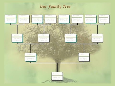 building a family tree template