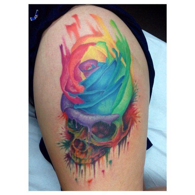 1000 ideas about rainbow tattoos on pinterest crow tattoos pride tattoo and evil tattoos. Black Bedroom Furniture Sets. Home Design Ideas
