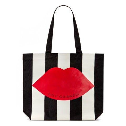§Stripe Lily Tote | Totes | Handbags | Lulu Guinness | Lulu Guinness