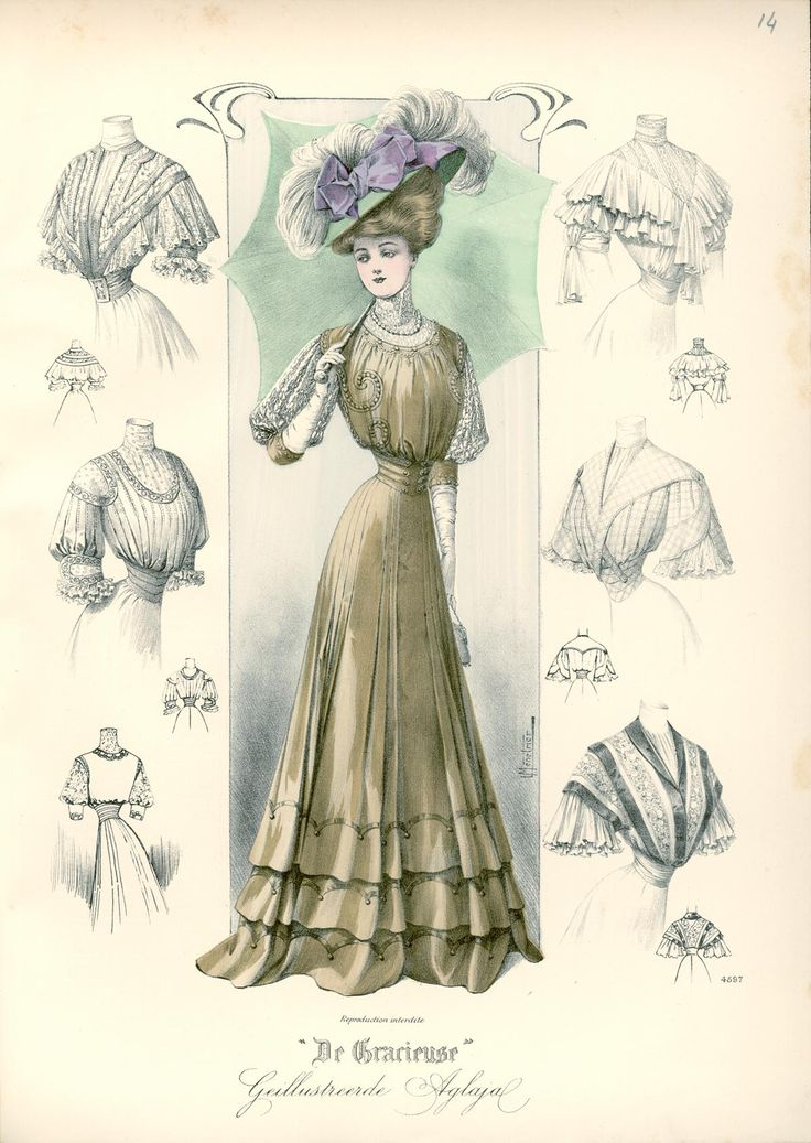 Gracieuse. Geïllustreerde Aglaja, 1907, aflevering 14, pagina 192/3