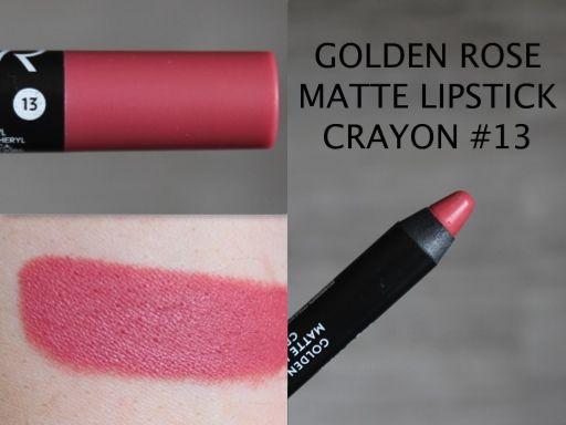 MAKEUP ARENA: Golden Rose Matte Lipstick Crayon 13