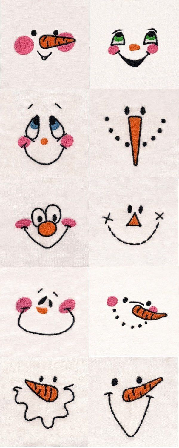 Making a cute snowman or snow picture use one of these faces to get the best looks ⛄️