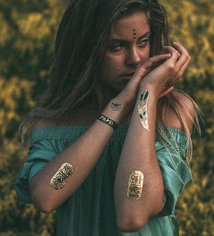 IAMU Collective MIMI Elashiry Metallic Foil Tattoo – IAMU COLLECTIVE