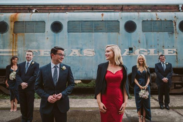 Rebecca & James' Glam Industrial Substation Wedding