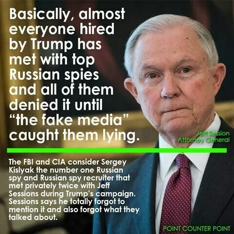 According to voters polled in a Quinnipiac University survey released Wednesday, Sessions lied under oath during his confirmation hearing about his contact with the Russians while serving as an emissary for the Trump campaign and should resign. Reports emerged earlier this year that top aides and allies to Trump's 2016 campaign were in constant contact with senior Russian intelligence officials before election day.