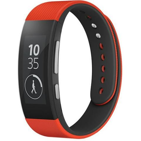 Sony SmartBand SWR30 - Red - Front and Side view