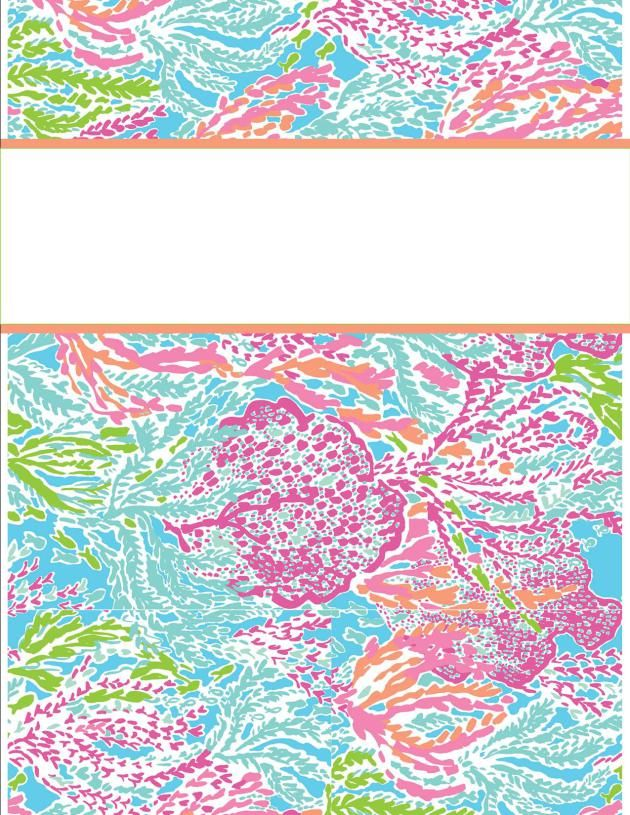Binder Cover Template Lilly binder cover templates