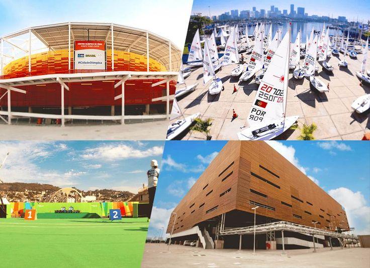 La dispute pour les médailles a lieu dans 32 arènes dans tout Rio. Mais l'esprit olympique va au-delà. Le football emmène les Jeux dans le reste du pays, avec des matchs dans les stades de Belo Horizonte, Brasília, Manaus, Salvador et São Paulo.