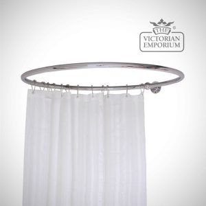 Round Shower Rails And Curtains