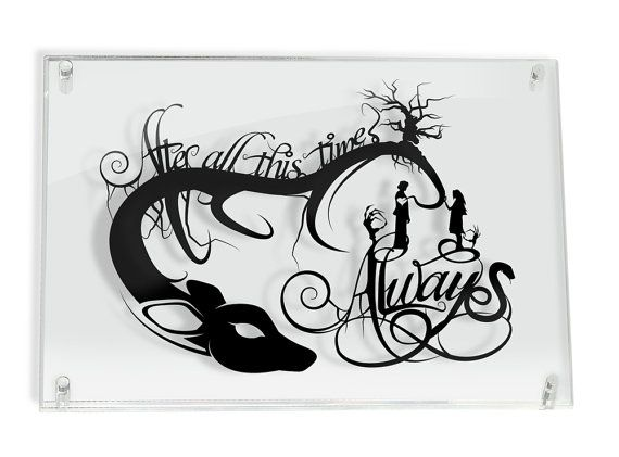 Always Snape and Lily  Harry Potter silhouette handcut by willpigg